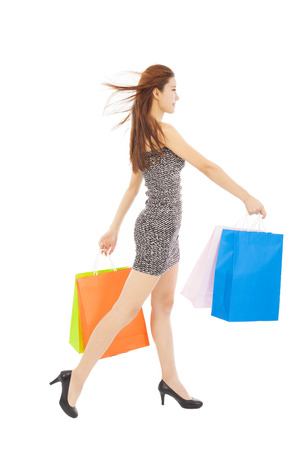 happy young  woman with shopping bags Stock Photo - 27941320