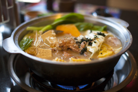 one of asia all kinds of hot pot  photo