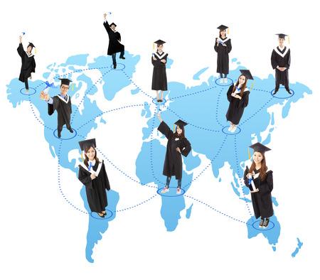 global graduation Student social network photo