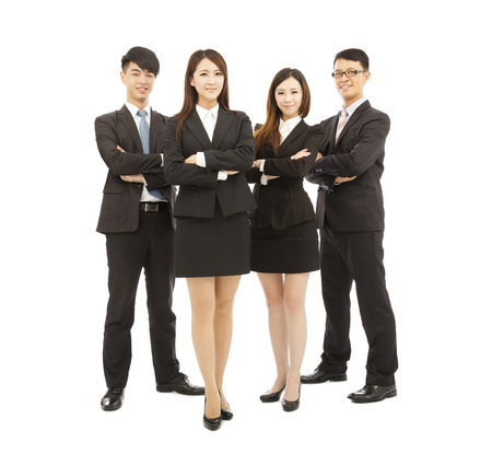 successful young business team standing together photo
