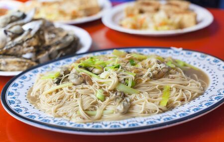 mian: chinese and Taiwan traditional famous food - oyster thin noodle