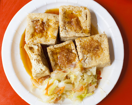 chinese and Taiwan traditional famous food - Stinky tofu photo
