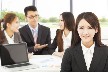 business female manager with teams in the office Stock Photo - 30100142