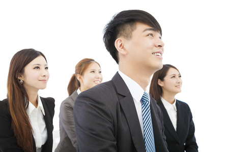 young asian business team standing together Stock Photo - 30660474