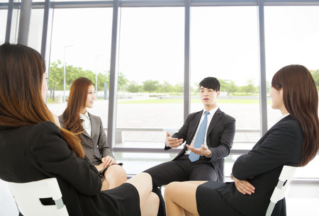 business team meeting in the office with beautiful background Stock Photo - 30703914