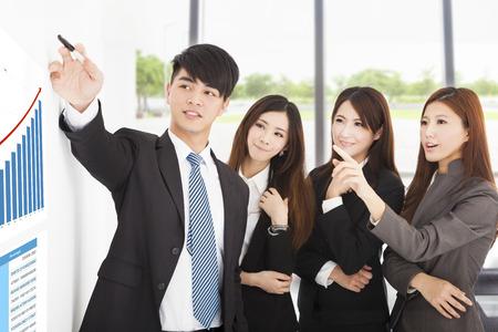 les gens d'affaires ont une réunion de marketing au bureau de