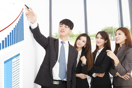 business people have a marketing meeting at office Stock Photo - 31091072