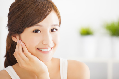 smiling  asian young woman photo