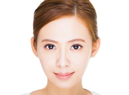 close up Beautiful  young woman face photo
