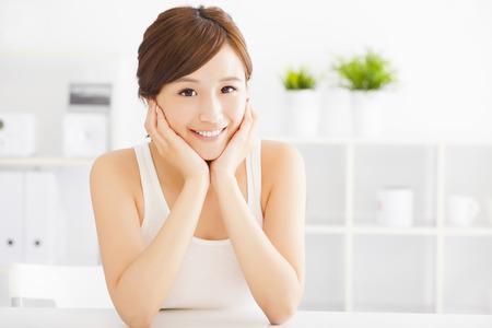 piel humana: hermosa mujer asiática joven Foto de archivo
