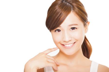 beautiful  young asian woman face