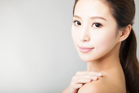 gesicht: Nahaufnahme junge schöne Frau Gesicht