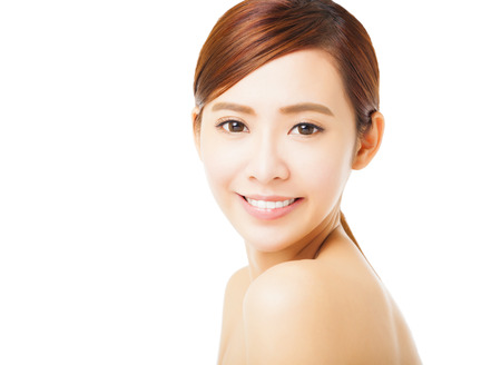 Primer plano la cara hermosa mujer joven sonriente Foto de archivo - 38949585
