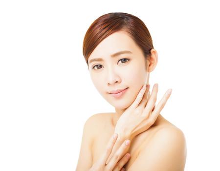 fresh face: primo piano bella giovane donna faccia