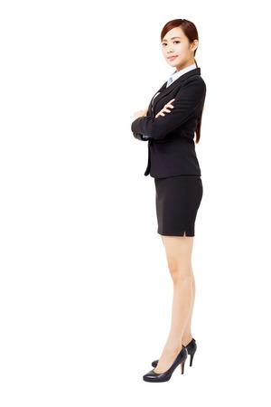 full length: full length young smiling businesswoman