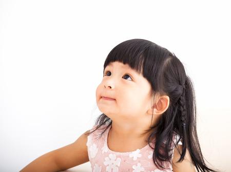 closeup sweet asian little girl face Stock Photo