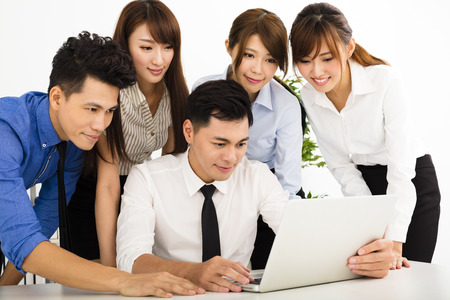 asian office lady: young business people working together at  meeting