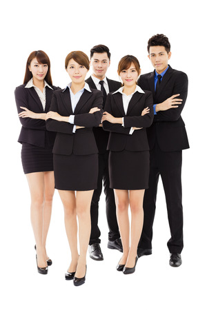 professional people: Successful business people standing together