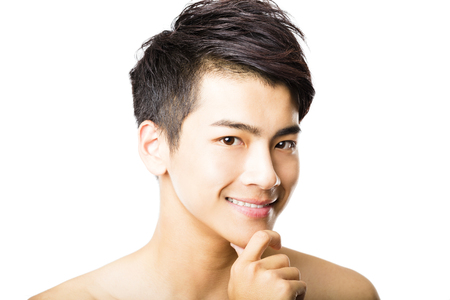 Closeup portrait of attractive young man face 版權商用圖片 - 45882396