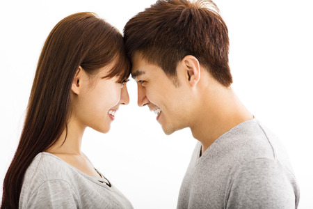 beautiful happy young asian couple