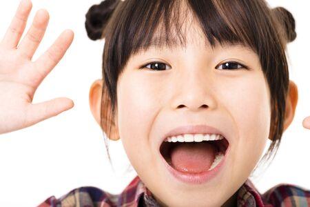 niños sonriendo: Retrato de la niña hermosa Foto de archivo