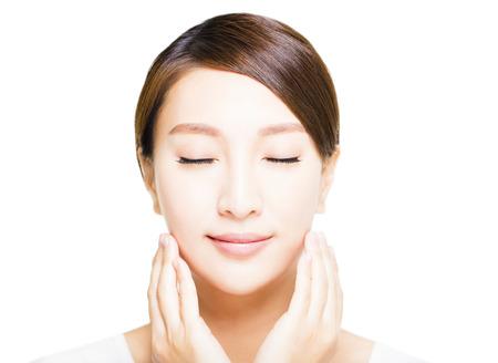 closeup beautiful young asian  woman  face Stok Fotoğraf - 52000583