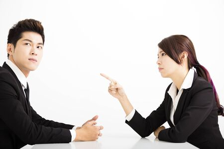 complain: business people with complain concept Stock Photo