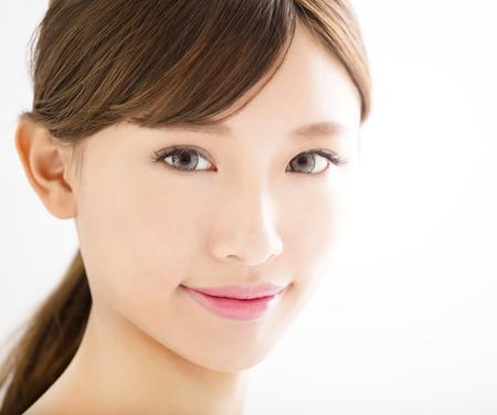 closeup beautiful young   woman  face Stok Fotoğraf