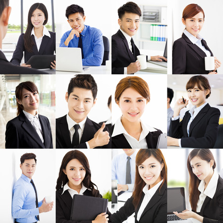 Portrait of asian Cheerful business People