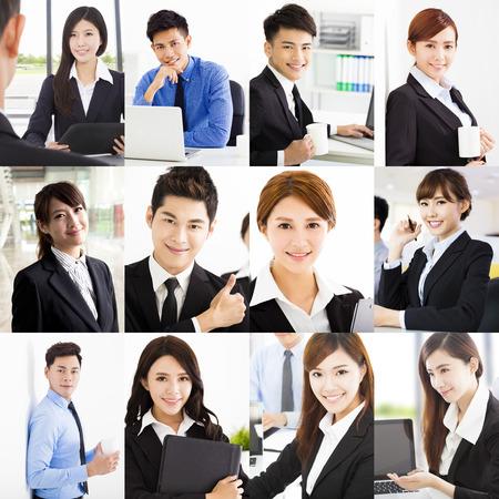 portrait subjects: Retrato de la gente de negocios alegre asiático