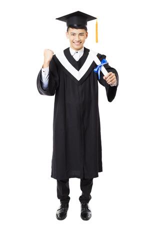 graduacion: longitud total de graduación de la universidad masculina joven