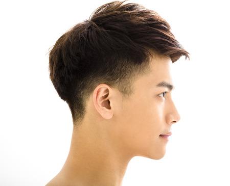 Closeup portrait of attractive young man face Foto de archivo