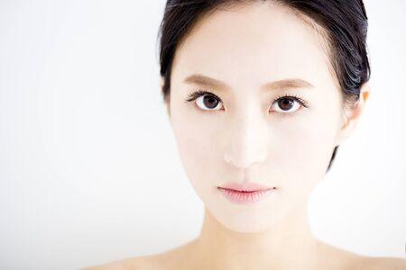 woman eye: closeup beautiful young   woman  face Stock Photo