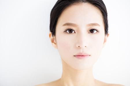 close up face: closeup beautiful young   woman  face Stock Photo