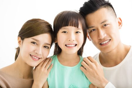 familias jovenes: Feliz atractivo retrato de la familia joven