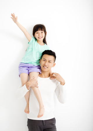 happy Father and Daughter Having Fun Together