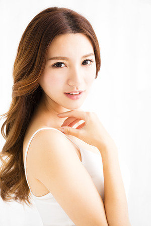 beautiful lady: closeup beautiful young asian  woman Stock Photo
