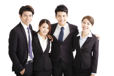 young executive: Portrait Of happy Young successful Business team