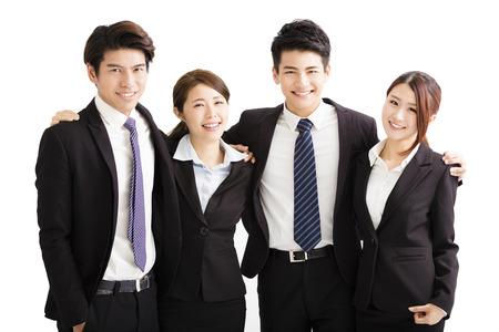 Portrait heureux groupe jeune entreprise Banque d'images