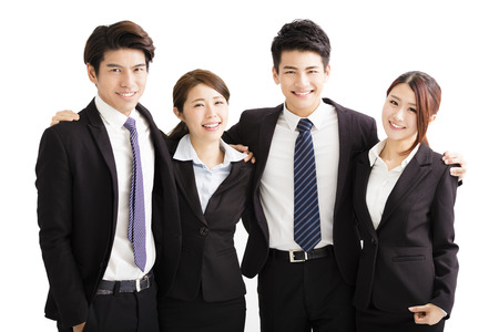 Portrait Of happy Young Business group