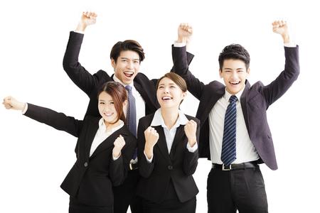 Portret szczęśliwy udanej działalności zespołu