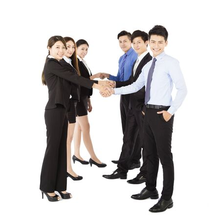 happy Young  Business team with handshake gesture