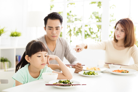 child refuses to eat while family dinner