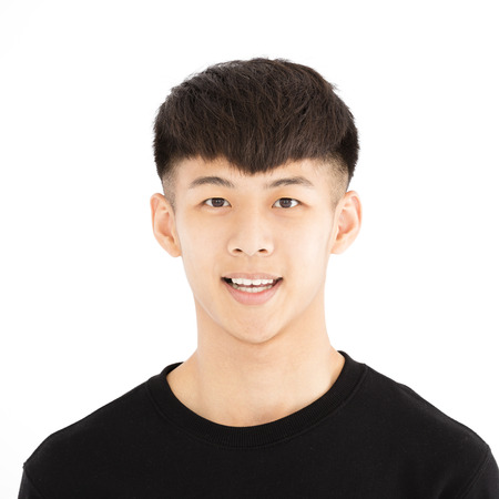 smile face: smiling asian young casual man portrait