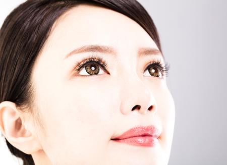 schöne augen: Nahaufnahme Schuss von junge schöne Frau Augen Lizenzfreie Bilder