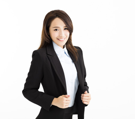 smiling and Confident young business woman photo
