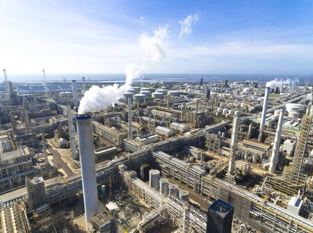 industry: Aerial view of Oil refinery