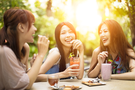 Group of young woman laughing in restaurant Stock fotó - 86172702