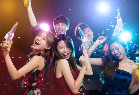 young group Enjoying party and having fun Stock Photo - 91250465