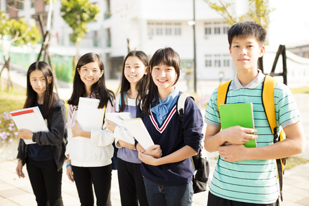 Group Of Teenage Students�standing together 免版税图像